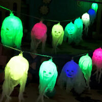 Halloween Skull LED Hanging String Lights 2.5M Horror Home Decor 10 Leds Colors