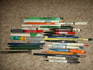 Vintage Assorted Advertising Property of Pens Pencils Lot