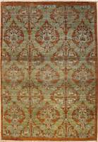 Rugstc 4x6 Senneh Chobi Ziegler Brown Area Rug,Natural dye, Hand-Knotted,Wool