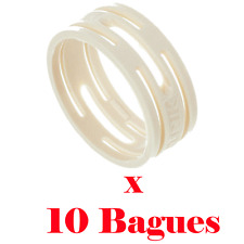 10 Bagues de Répérage Couleur Blanc pour Fiche XLR Neutrik Série XX ref XXR9