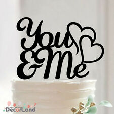 Acrylic Wedding Cake Topper YOU & ME Wedding Engagement Party Decoration