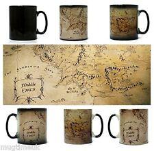 Middle earth map, le seigneur des anneaux mug-morph magic mug-chaleur changing