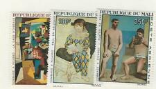 Mali, Postage Stamp, #C46-C48 Mint Hinged, 1967 Art, Picasso