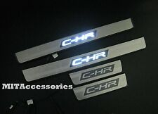 Toyota C-HR 2017-2018 OEM LED light door sill plate stainless steel-Outer