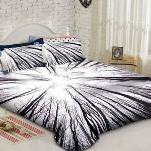 Forest Mandala Duvet Cover Bedding Set with Pillow Cases Single Double King Size