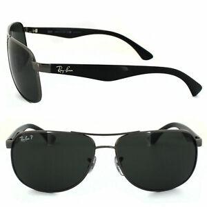 ray ban RB3502 004/58 Polarized Green Classic G-15 Rectangular Men's Sunglasses