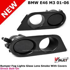 Winjet Bumper Fog Lights Lamps Smoke + HAM Covers Set  For 1999-2006 BMW E46 M3
