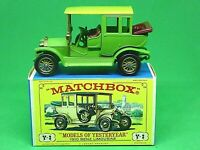 Matchbox Yesteryear Y3-2 1910 Benz Limousine In Type 'E' Box (GREEN)