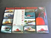 American Power Boat Association-2002 Tentative Schedule of Events Photo Poster.