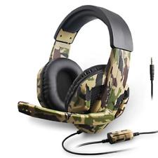 Cascos auriculares con micrófono gaming PS4 Nintendo Switch XBOX PC camuflaje