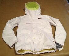 NWT The North Face White Heavy Women Jacket Lined Yellow Hyvent w Ricas Ins Smal