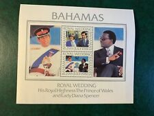 BAHAMAS 1981 MNH PRINCE CHARLES PRINCESS DIANA WEDDING MINISHEET