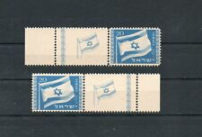 Israel Scott #15 1949 Flag Left and Right Full Tab Set of Two MNH!!!
