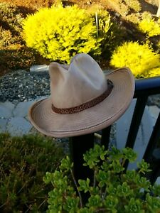 Vintage Stetson full Leather Western Cowboy belt band SCI 68  size 7 1/2- 7 5/8