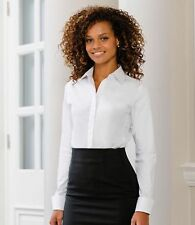 Business Patternless Stretch Tops & Shirts for Women