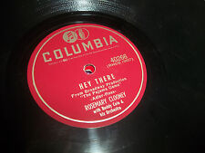 """Rosemary Clooney This Ole House/Hey There 1954 10"""" 78  Jazz Columbia 40266 exc"""