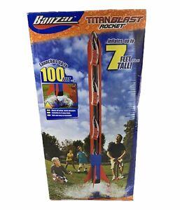 BANZAI Titan Blast Rocket 7 Feet Tall Launches to 100 Ft Water Pressure Powered