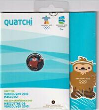 RARE!! CANADA 25 CENTS QUARTER 2010 VANCOUVER MASCOT QUATCHI *RCM SEALED*