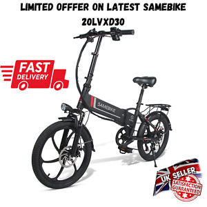 "Samebike 20LVXD30 Electric Bike 20"" Power Assist Foldable E-Bike 350W 48V 10.4AH"