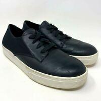 Eileen Fisher Women's Size 7.5 Black Leather Microfiber Casual Shoes Sneaker