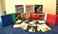 "LOT OF 100 3.5"" FLOPPY DISKS USED MAXELL 3M BASF IMATION CASE FREE SHIPPING"