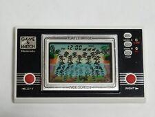 Turtle Bridge Nintendo Game & Watch Wide Screen Electronic Game TL-28 1982