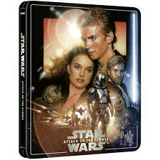 STAR WARS EP II ATTACK OF THE CLONES 4K + BD STEELBOOK ZAVVI EXCLUSIVE [UK]