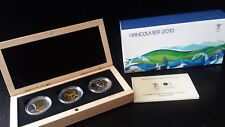 Canada Vancouver 2010 Special Edition Olympic Silver 3-Coin Set