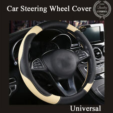 High Performance 38cm Car Steering Wheel Cover Genuine Leather Fashion Style 1x