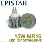 10 X LILIANO LED MR16 15W 12V bulb downlight globe lamp WARM WHITE NON DIMMABLE