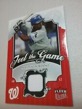 2006 Fleer Ultra Feel The Game #FG-AS Alfonso Soriano Washington Nationals
