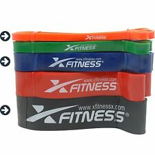 xFitness Pull Up Assist Resistance Bands For CrossFit - #1 #3 #5 Set, 10-175 lbs