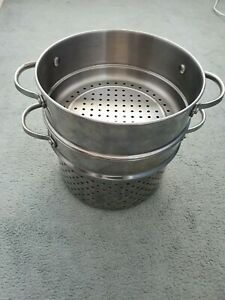 Circulon stainless Steel steamers x 2