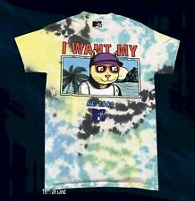 New MTV Tie Dye 1981 Mens Vintage Concert T-shirt