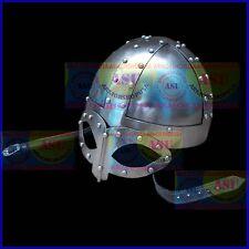 Steel Viking Norse Spectacle Helmet Medieval Armour Costume Helmet w/ Liner