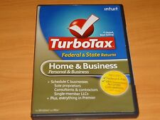 LOOK*Retail 2009 TURBOTAX HOME & BUSINESS CD for FEDERAL RETURN ONLY