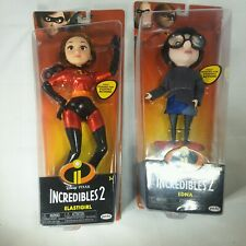Disney The Incredibles 2 Elastigirl and Edna Poseable Doll Pixar 2018 new