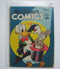 Us-Walt Disney 's Comics and Stories (dell) #65 graded 2.5