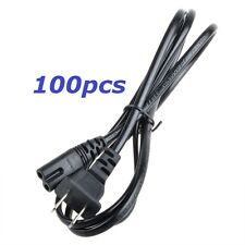 100PCS US 2-Prong Port Pin AC Power Cord Cable Adapter PC Laptop PS2 PS3 HP Dell