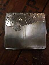 Vintage Cigarette Case Coin Silver 800 Victorian Design