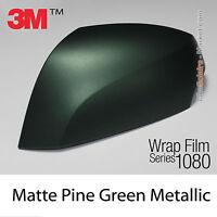 100x152cm FILM Mat Vert Pin Métallisé 3M 1080 M206 Vinyle Total COVERING Wrap