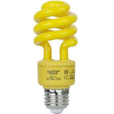 Sunlite 13 Watt Yellow Bug Light Spiral CFL Bulb E26 Medium Base 120V - 05503-SU