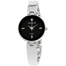 Anne Klein Classic Black Dial Stainless Steel Ladies Watch AK2493BKSV