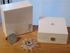 SWAROVSKI *NEW* Bougeoir Solaris Candleholder 236719 Diam.13,8cm H.3,5cm