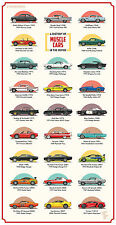 Muscle Cars A History of in the Movies Giant 1 Piece Poster - Huge 168cm x 86cm