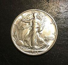 1945-S Walking Liberty Silver Half Dollar, Choice BU, Blast White