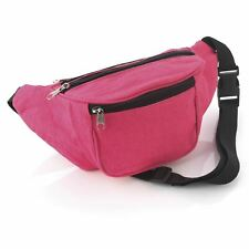 Neon pink colour bum bag  Fanny Pack Festival Money Holiday Shopping Travel Belt