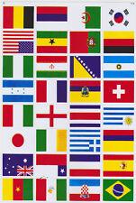 Aufkleber Sticker 32 versch. Länderflaggen Fahnen Nationen  -s1e6