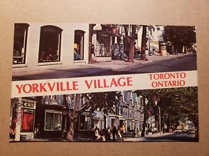 Vintage Postcard - Yorkville Village Toronto 1960s - Royal Specialty Sales