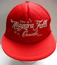 ac5e9221 RARE 1980 s Enjoy Niagara Falls Canada Coca Cola Snapback Mesh Cap Trucker  Hat